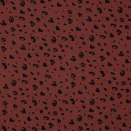 Double Gauze |  Leopard -  Stone