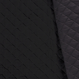 Double Gauze - Mousseline Quilted | Black 069