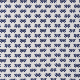 Jaquard - jersey  Swafing  | winter flower by Lila - Lotta | creme - blauw
