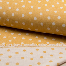 Jaquard Double Face | Dots  - Ochre
