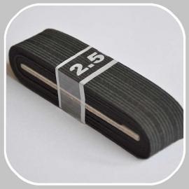 elastiek zwart 3 cm