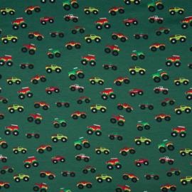 Tricot print | Monster trucks | Green