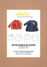 IKATEE | Stockholm Kids blouse / dress - Girl 3/12Y - Paper Sewing Pattern