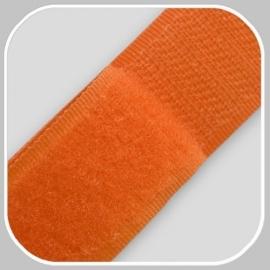 klittenband | oranje  breedte 20mm