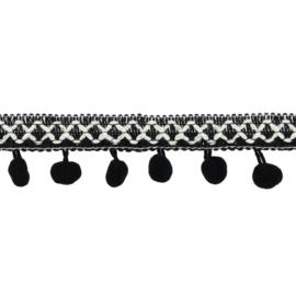 Bolletjesband | Cross - Zwart  31620