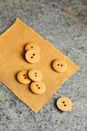 Mind the Maker | Curb Cotton  Button - 18 mm -  Dry Mustard