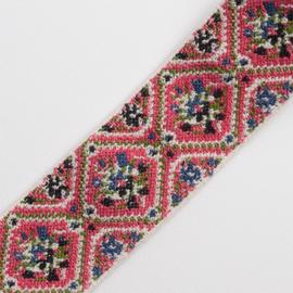 elastiek jaquard gobelin | pink | 4cm breed