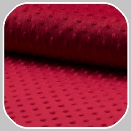 velours 'minky'rood dot KC4008-015