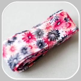 30220 bloem roze grijs-  3 meter / 20mm