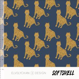 Elvelyckan design | Soft Shell  | Lynx - Blue   | Oeko tex