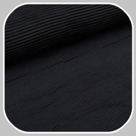 plisseestof | zwart
