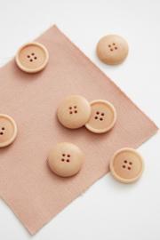 Mind the Maker   Blaze Corozo Button - 20 mm - Rose