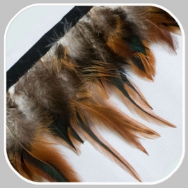41645 band veren bruin zwart/   12 cm hoog