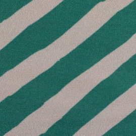 Swafing -French Terry | To the Top by Käselotti - Beige  - Emerald