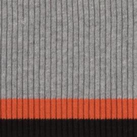 Tricot boord   Grijs - Roest - Zwart