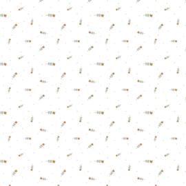 Jersey GOTS | Digital Watercolour - Flowers  - Off White