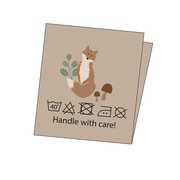 Elvelyckan Design -  Combipak Label -  Fox -  10  stuks