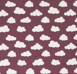 decostof | wolk | Donkerrood