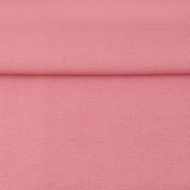 tricot boord uni | oud roze