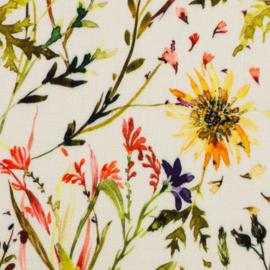 Swafing | Viscose - Frieda - Flowers - Ecru