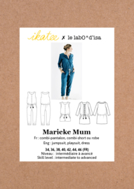 Ikatee Pattern | Marieke Mum- Jumpsuit, playsuit & dress - Women 34-46
