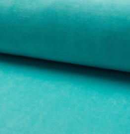 Nicky velours uni | Turquoise 204
