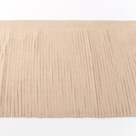 Suedine franjeband | ecru 28002 | 12cm breed
