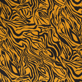 Tencel - Lyocell | Animal Print Tiger  - Ochre
