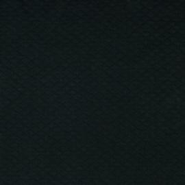 Tricot uni - Wafel - Quilt | Black 020