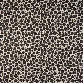 Katoen Poplin  Print | Animal Skin - Beige