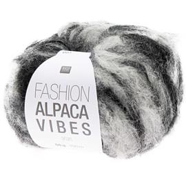 Fashion Alpaca Vibes Aran | Black - White