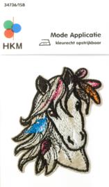 Strijkapplicatie | Paard met Veren - 34736-1SB