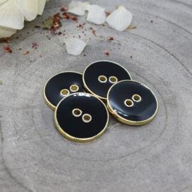 Atelier Brunette | Joy  Buttons  - 20 mm  - Black