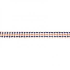 41257 elastisch biaisband retro blok 15mm