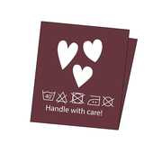 Elvelyckan Design -  Combipak Label -  Hearts - Wine -  10  stuks