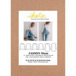 IKATEE   JASMIN Mum sweatshirt/dress -34-46 - Paper Sewing Pattern