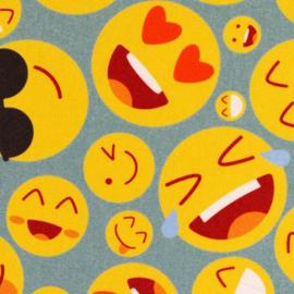 Katoen Print | Swafing -  Smileys - Mint