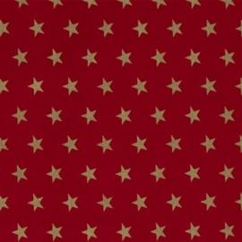 Katoen - Kerst | Rood - Gouden ster