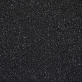 Tricot boordstof | Glitter | Black - Silver