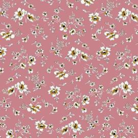 Tencel Modal Jersey | Flowers - Pink