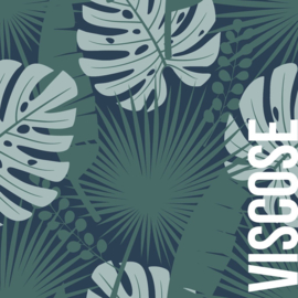 About Blue Fabrics | Crepe Viscose | Let's Get Lost  - Crazy plant lady - green