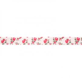 41251 elastisch biaisband roos 15mm