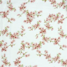 Double Gauze | GOTS | Blossom - White