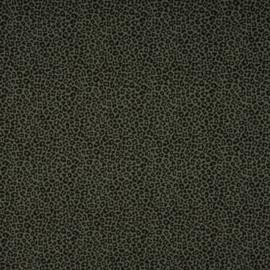 Tricot Print | Luipaard mini | Khaki