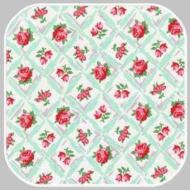 retro florals   CX6853- AQUA
