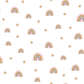 Soft Sweat GOTS | Rainbow - White