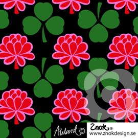 Znok tricot print | Clover | Green - Pink