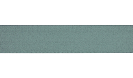 Elastiek uni | 4 cm | Dusty Mint