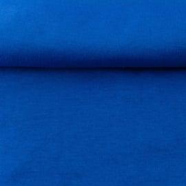 tricot boordstof uni | kobalt
