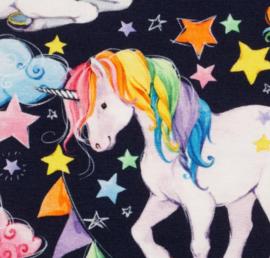 Swafing Tricot Print | Matti - Unicorn - Dark Blue